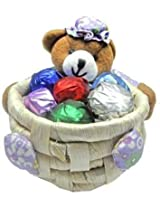 Skylofts Cute Teddy Chocolate Basket (Set of 2 baskets with Thermocol Box protection)