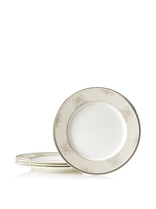 Mikasa Floral Elegance Dinner Plate, White/Platinum