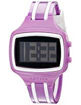 Activa By Invicta Unisex AA401-004 Watch with Purple and White Striped Band