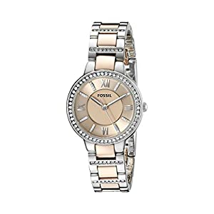 Fossil Virginia Analog Gold Dial Women's Watch - ES3405