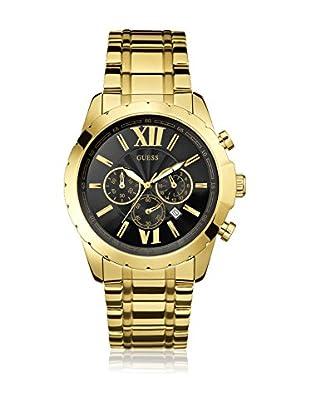 Guess Uhr mit japanischem Mechanikuhrwerk Man Optic Gold Tone goldfarben 44 mm
