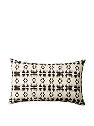 Nitin Goyal London Monochrome Tulip Silk Lumbar Pillow, Multi