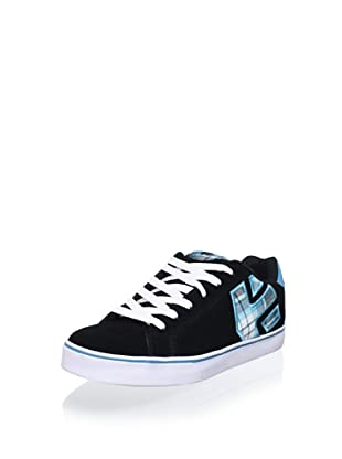 Etnies Women's Fader Vulcanized Low Top Sneaker (Black/Blue)