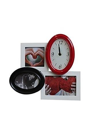 Tomasucci Bilderrahmen mit Uhr Class weiß