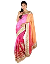 Shubh Embroidered Saree (Pink)_SASF0059