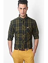 Olive Casual Shirt Flying Machine