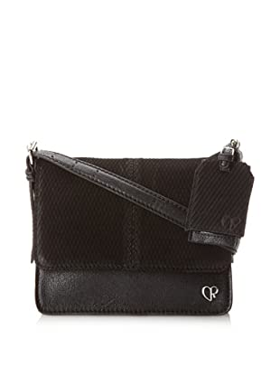 Charlotte Ronson Women's Diamond Cut Cross-Body (Black)