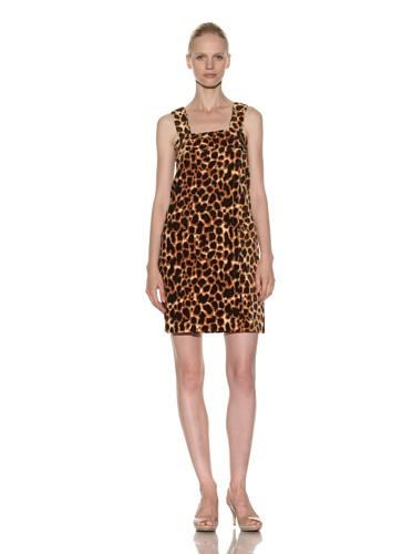 Aegean Apparel Women's Caramel Leopard Print Shower Wrap (Brown/Black)