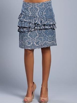 Cortefiel Falda Cashemire Volantes (Azul)