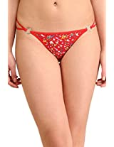 Glus Berries Thong ,Size- Medium ,Color-Red