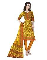 Salwar Studio Multicolor & Orange Cotton Dress Material With Dupatta RangResham-1820