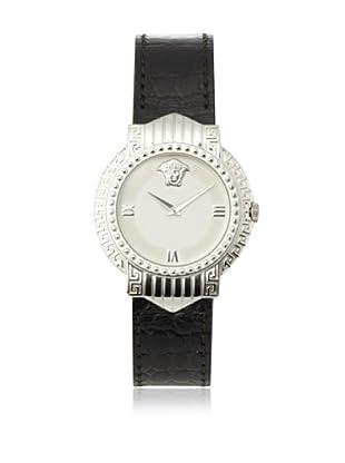 Versace Women's 404MWHT Black/White Gold-Plated Watch