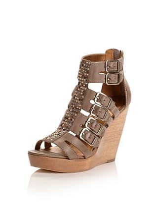 Cynthia Vincent Women's Jett Wedge Sandal (Grey)