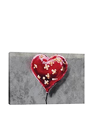 Banksy Bandage Heart Gallery Wrapped Canvas Print
