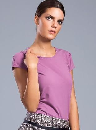 Cortefiel Camiseta Basic (Morado)
