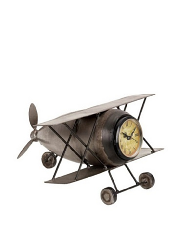 Industrial Chic Metal Plane Clock