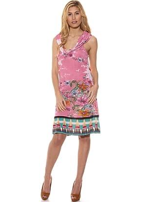 Peace & Love Vestido Estampado (Rosa)