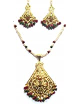 Shingar Ksvk Jewels Jadau Ruby Emerald Pendant Set For Women (9622-jadaau-Ruby-Emerald-ps)