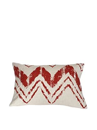 Filling Spaces Hand-Printed Ikat Stroke Pillow, Flame