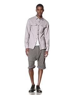 B: Scott Men's Flannel Workman Shirt (Heather Grey)