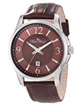 Lucien Piccard Men's 11566-04 Adamello Brown Textured Dial Brown Leather Watch