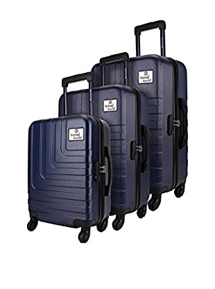 TRAVEL WORLD Set de 3 trolleys rígidos CCH