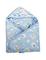 Mee Mee Comfy Baby Wrapper Blanket with Hood (Blue)