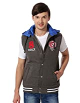 Peter England Peter England Casuals Sleeveless Grey Jacket