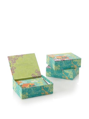 Mudlark Set of 3 Memento Boxed Notes, Blue/Multi