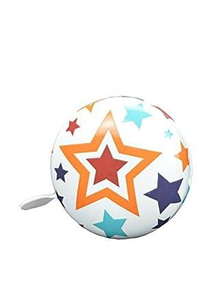 Kiddimoto Fahrradklingel Dingdong Stars Big weiß/mehrfarbig