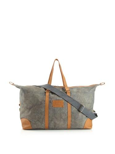 Jamie Young Handbags Women's Jitney Duffle Bag (Navy Vintage Canvas)