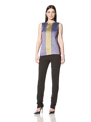 Derek Lam Women's Brocade Sleeveless Top (Gold/Black)