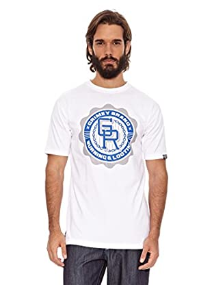 Grimey Wear Camiseta Basic Uniform (Blanco / Azul Royal)