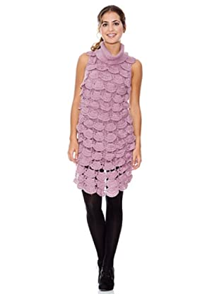 LAVAND Vestido Knit Solapeado (Rosa)
