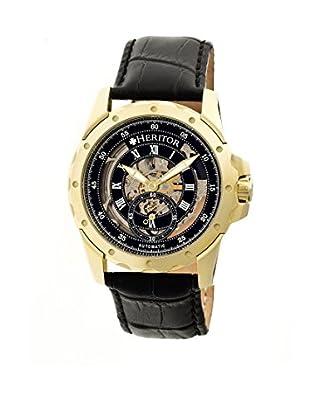 Heritor Automatic Uhr Armstrong Herhr3404 schwarz 48  mm