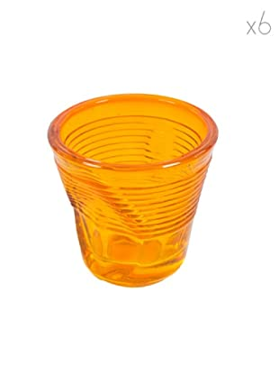 Kaleidos Set 6 Bicchieri Accartocciati 115 ml (Arancio)