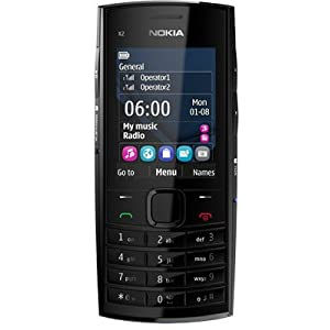 Nokia X2-02 Mobile Phone-Black