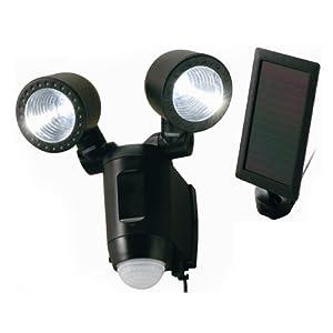 【クリックで詳細表示】ソーラー式LEDセンサーライト2灯 1W×2 LSC-2(B)LED【IQ】: 産業・研究開発用品