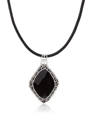 Silver One Collar Gran Filigrana Ónix