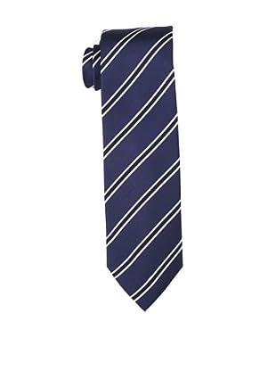 Yves Saint Laurent Men's Border Stripe Tie, White/Navy