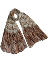 Large Small Polka Dots Long Scarf Shawl Sarong - Tan