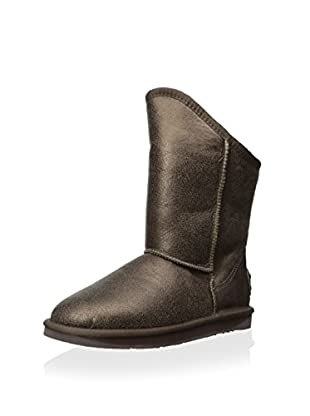 AUStralia Luxe Collective Womens Cosy Short Vintage Metallic Boot (Bronze)
