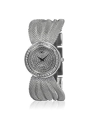 Adee Kaye Women's 20-L/C Silver/White Brass Mesh Watch