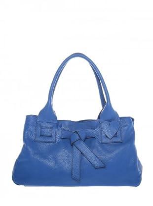 Elysa Tasche aus weichem Leder (Blau)