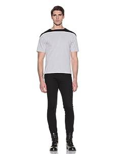 Johannes Faktotum Men's Short Sleeve Tee (Light Grey Heather/Black)