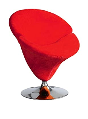 International Design USA Tulip Leisure Chair, Red