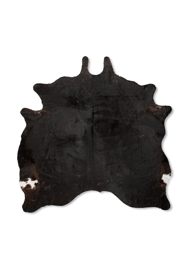 Shaped Hide Black Rug , 7' x 6'