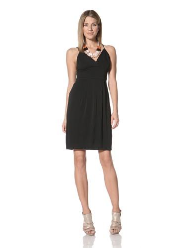 Halston Heritage Women's Empire Waist Dress (Black)