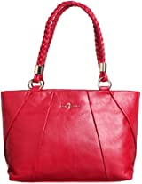Cole Haan Womens Adele Small Tote Shoulder Bag, Velvet Red, One Size