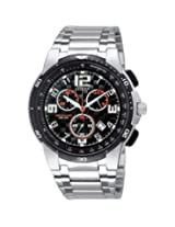 Citizen Eco-Drive AN7060-52F Black Round Dial Chronograph Watch - For Men